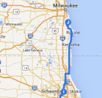Mount Prospect to Oak Creek WI